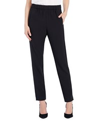 Ellen Tracy Ankle Length Pull On Pants Black