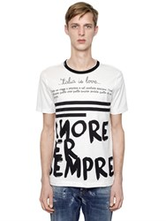 Dolce And Gabbana Amore Per Sempre Cotton Jersey T Shirt