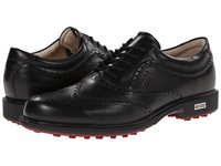 Ecco Tour Hybrid Wingtip Black Brick Men's Golf Shoes