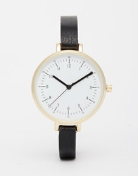 Asos Large Face Fine Case Watch Black