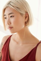 Urban Outfitters Maggie Delicate Front Back Earring Gold
