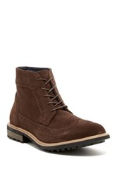 Joseph Abboud Lewis Longwing Boot Brown