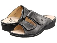 Finn Comfort Jamaica 82519 Volcano Luxory Soft Footbed Women's Slide Shoes Black