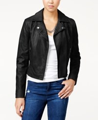 American Rag Faux Leather Moto Jacket Only At Macy's Classic Black