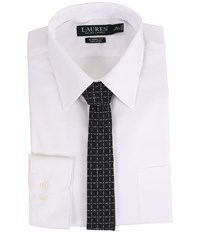 Lauren Ralph Lauren Pinpoint Point Collar Classic Button Down Shirt White Men's Long Sleeve Button Up