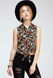 Forever 21 Tropical Print Top