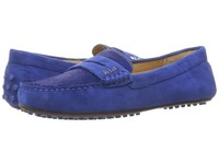 Lauren Ralph Lauren Belen Royal Kid Suede Haircalf Women's Shoes Blue