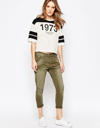 Pepe Jeans Topsy Army Trousers With Tapered Leg 716Army Green