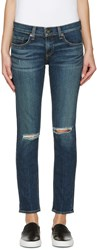 Rag And Bone Blue Ripped Tomboy Jeans
