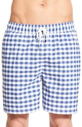 Men's Brooks Brothers 'Gingham Montauk' Swim Trunks Dark Blue