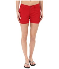 Fjall Raven Abisko Stretch Shorts Red Women's Shorts