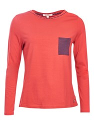 Barbour Hermit Jersey Top Red