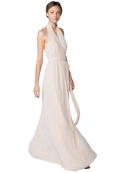 Women's Ceremony By Joanna August 'Amber' Side Tie Chiffon Halter Gown All Tomorrows Parties