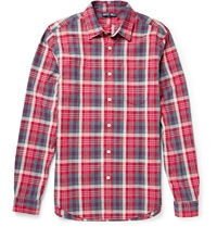 Alex Mill Cove Checked Linen And Cotton Blend Shirt Red