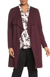 Vince Camuto Plus Size Women's Drape Front Cotton Cardigan
