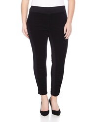 Xcvi Oslo Ruched Corduroy Inset Leggings Black