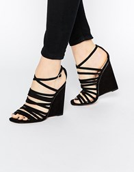 Asos Headland Caged Wedges Black