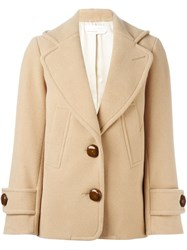 See By Chloe Short Boxy Coat Nude And Neutrals