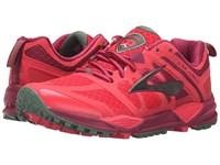 Brooks Cascadia 11 Teaberry Duck Green Raspberry Radiance Women's Running Shoes Red