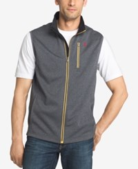 Izod Men's Big And Tall Spectator Knit Vest Carbon Heather