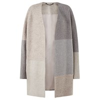 Jigsaw Textured Knitted Patchwork Coat Multi