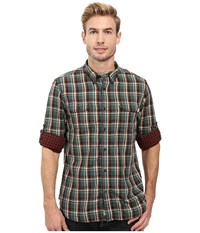 Timberland Double Layer Plaid Shirt Cilantro Yarn Dye Men's Clothing Brown