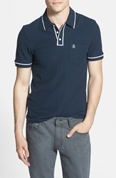 Original Penguin Men's 'Earl' Pique Polo Total Eclipse