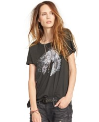 Denim And Supply Ralph Lauren Dream Catcher Draped Tee Faded Black Canvas