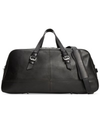 Cole Haan Smooth Leather Duffle Bag Black