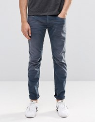 Replay Jeans Anbass Slim Fit Stretch Mid Blue Overdye Wash Mid Blue