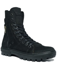 Levi's Canvas Sahara Hi Top Boots Men's Shoes Black