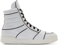 Balmain White And Black Nash High Tops