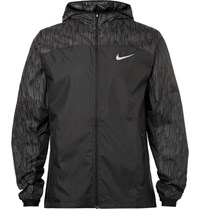 Nike Running Panelled Riptop Hell Running Jacket Black
