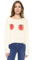 Wildfox Couture How Do You Like Them Apples Luca Crop Sweatshirt Pearl