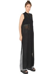 Maison Martin Margiela Sheer Techno Chiffon Long Shirt Dress