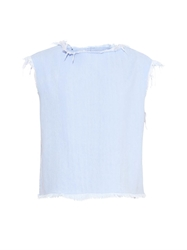 Marc By Marc Jacobs Frayed Edge Sleeveless Denim Top