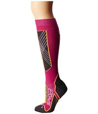 Spyder Sport Merino Sock Wild Edge White Women's Knee High Socks Shoes Pink