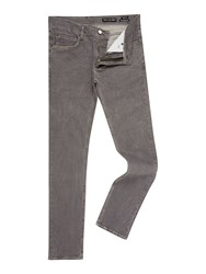 Religion Men's Noize Slim Fit Endino Wash Grey Ripped Jeans Grey