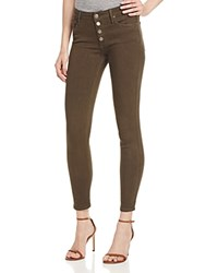 Black Orchid Candice Button Front Skinny Jeans In Wicked