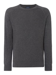 Criminal Keymoor Raglan Crew Neck Jumper Charcoal Marl