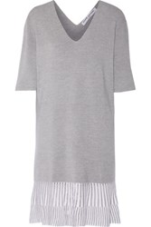 Opening Ceremony Stretch Knit Dress Gray