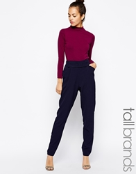 Girls On Film Tall Bow Detailed Tailored Trouser Black