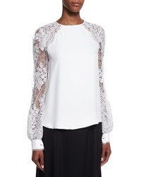 Kay Unger New York Lace Sleeve Blouse