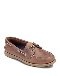 Sperry Ao Leather Boat Shoes Tan