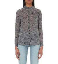 Mih Jeans Evelyn Silk Shirt Navy