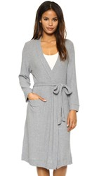 Eberjey Cozy Rib Robe Heather Grey