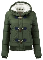 Superdry Sports Toggle Puffer Jacket Green