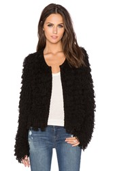525 America Crop Fringe Jacket Black