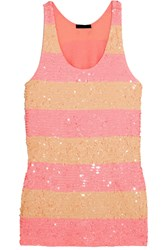 J.Crew Collection Sequined Cotton Tunic Pink