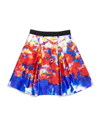 Milly Minis Katie Watercolor Print Sateen Skirt Multicolor Size 2 7
